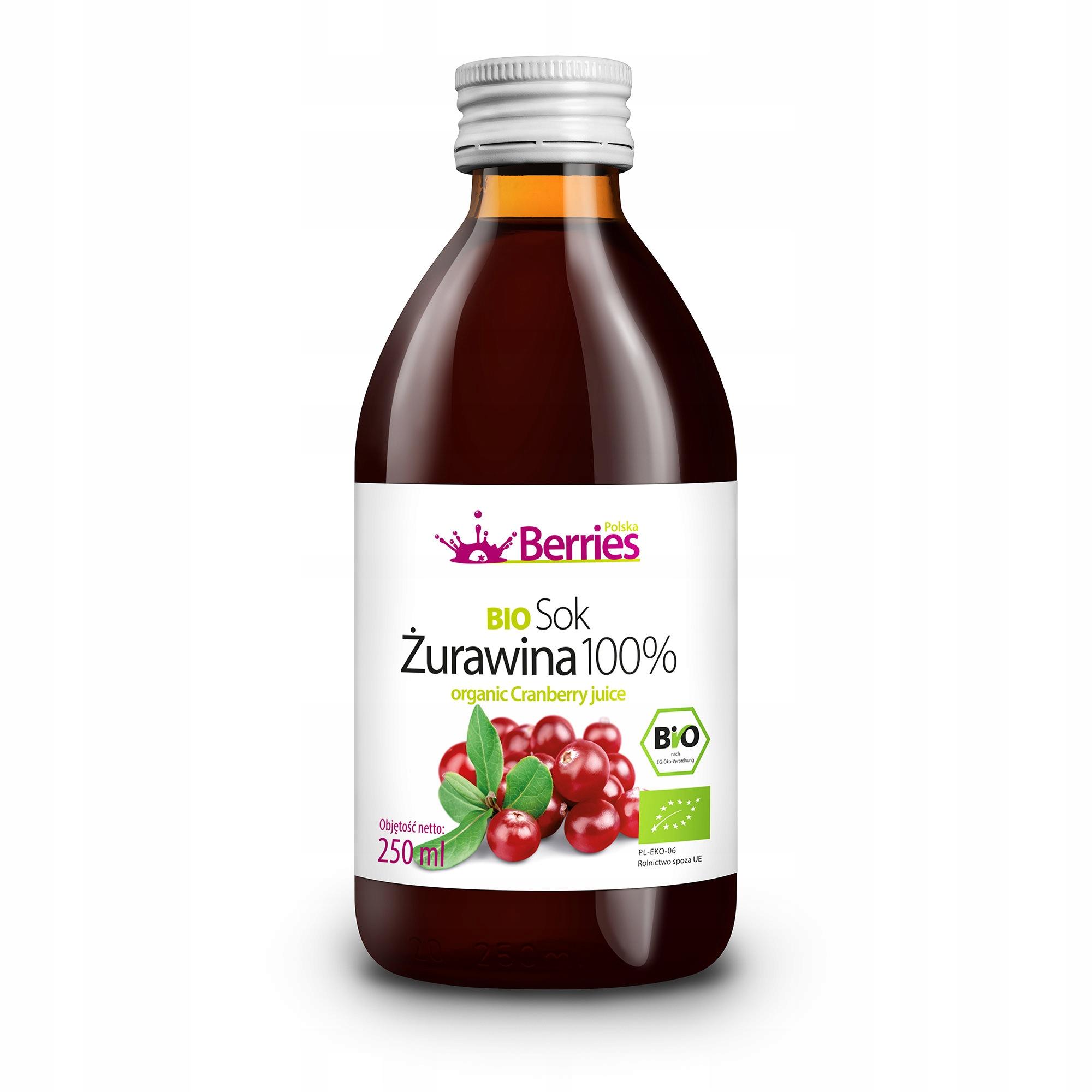 Sok BIO Żurawina 100% sok z żurawiny 250ml