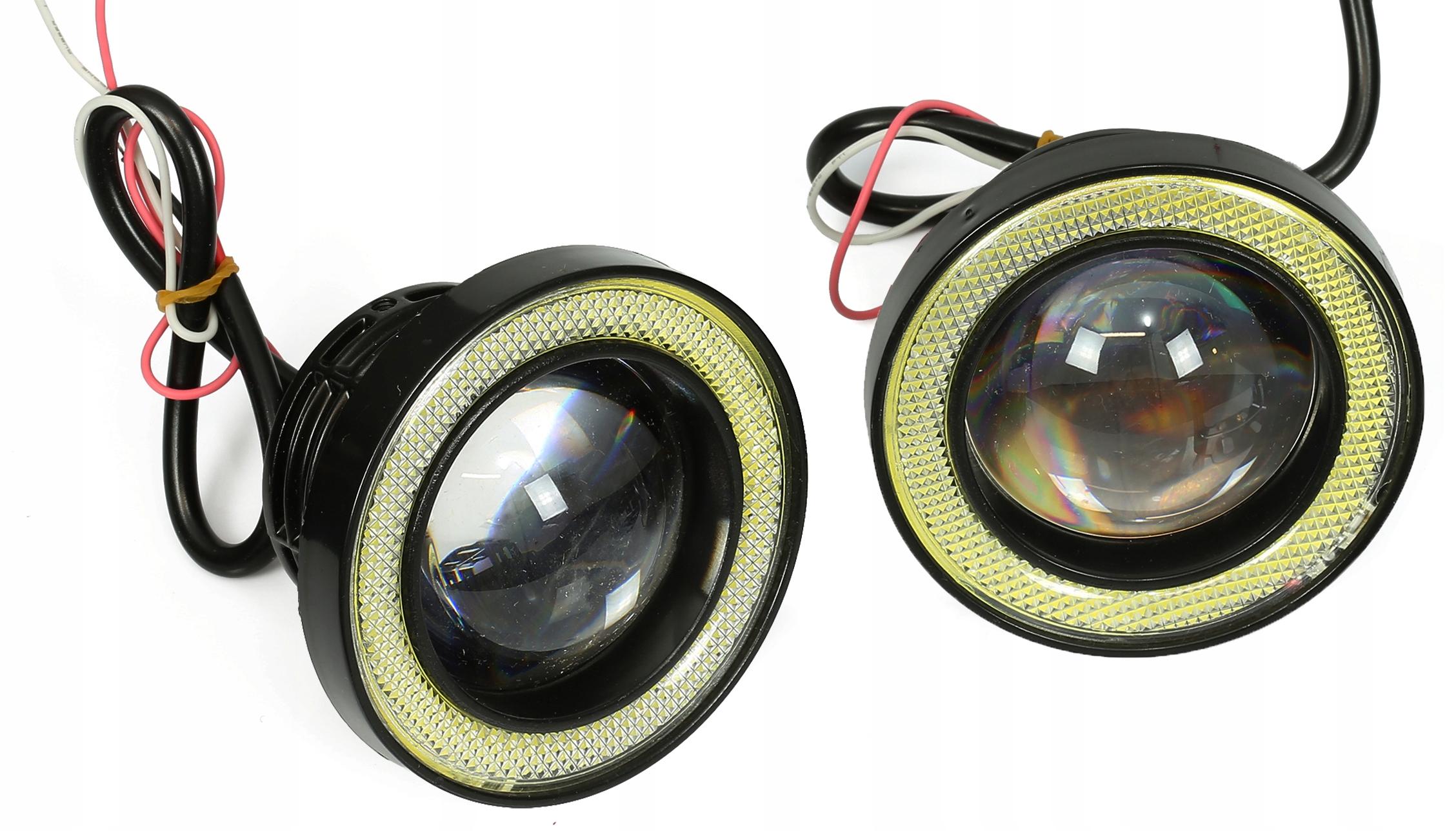 2w1 Света led cob лампы drl свет галоген 76mm