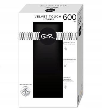 Legginsy Velvet Touch 600 Den 3D Wewnątrz Plusz L