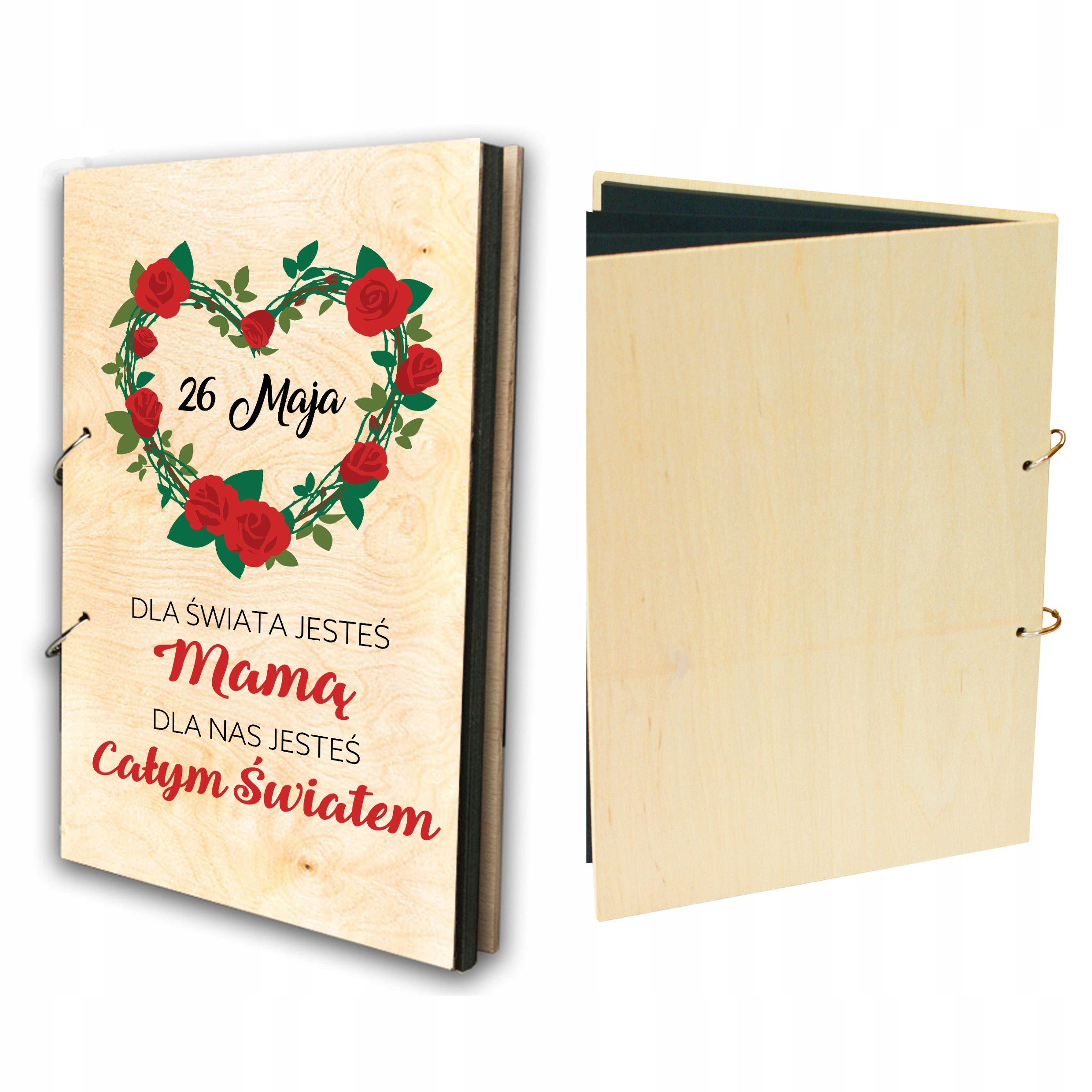 Item WOODEN ALBUM WE HAVE A MOTHER'S DAY GIFT PRINT