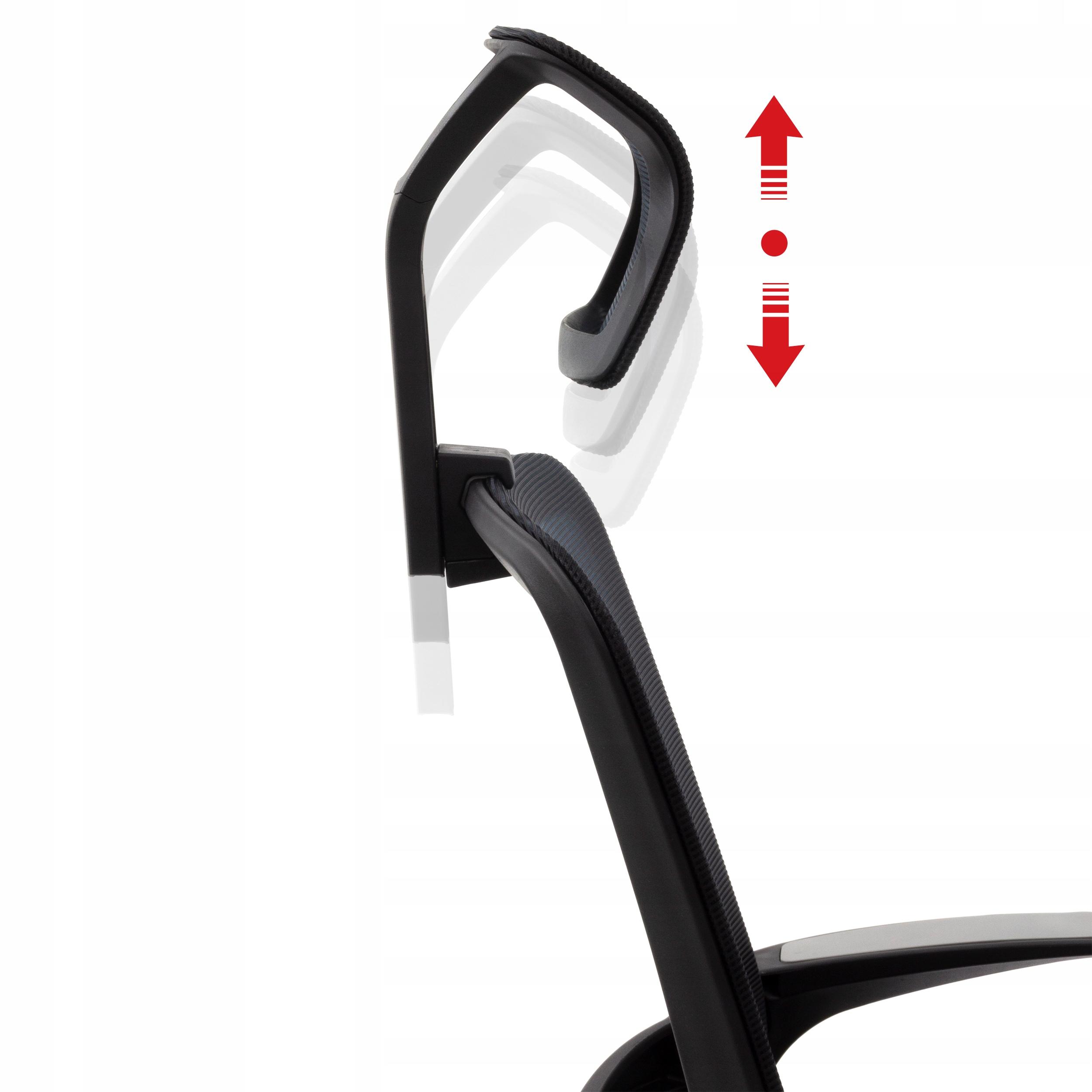 Ергономічний офісний стілець Поворотне крісло AMO-90 Глибина меблів - 64 см