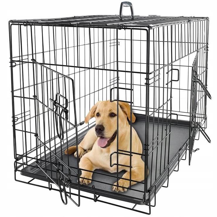 Metalowa Klatka Kennelowa dla Psa Transporter L