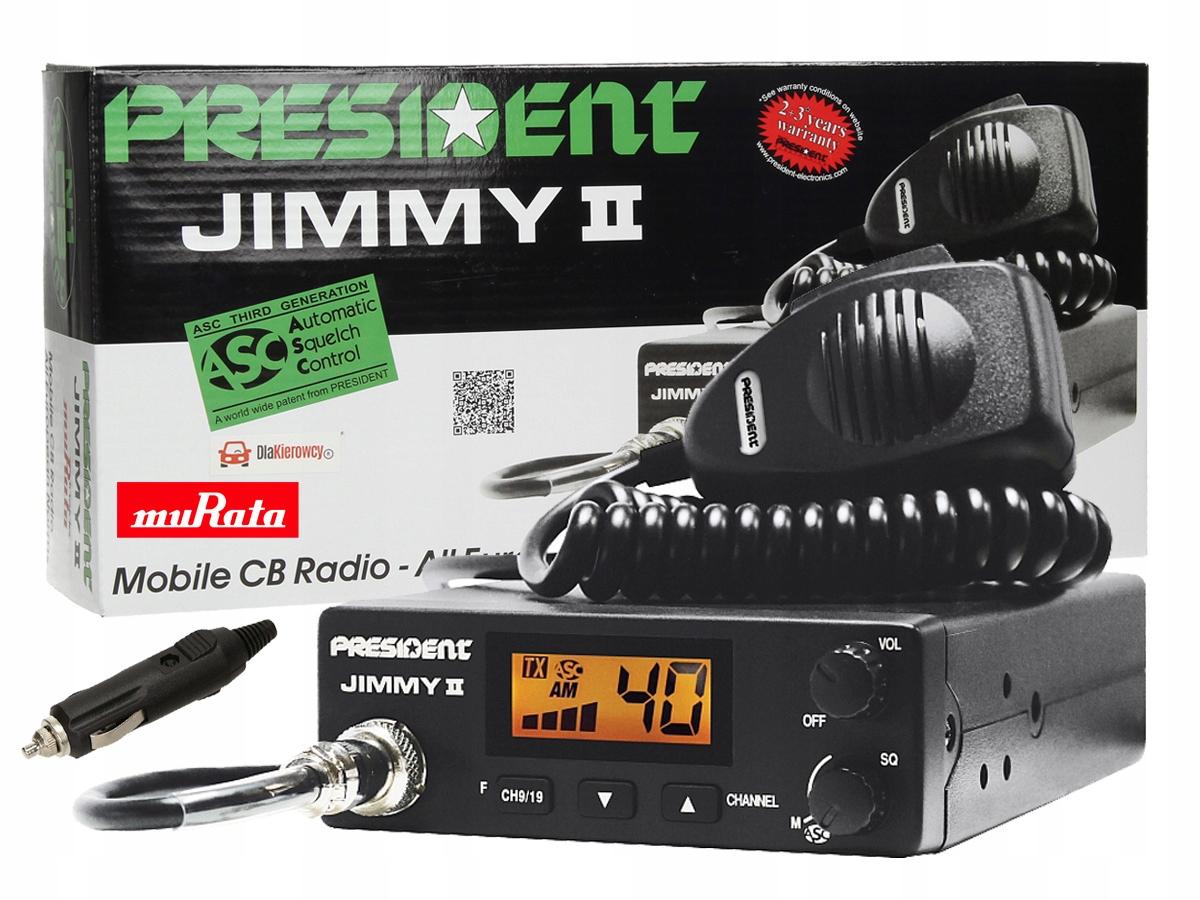 Item CB RADIO PRESIDENT JIMMY ASC ZALUTOWANY CONNECTOR P3L