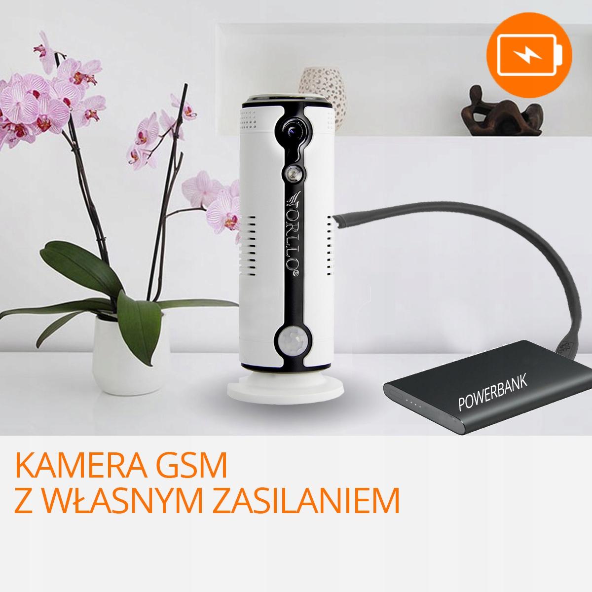 Kamera HD GSM SIM +Power Bank LG 3G 4G LTE ORLLO Rozdzielczość 1.3 Mpx