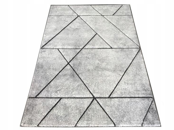 Koberec DIAMOND KOBEREC 120 x 170 GEOMETRIE DASH SIVÁ
