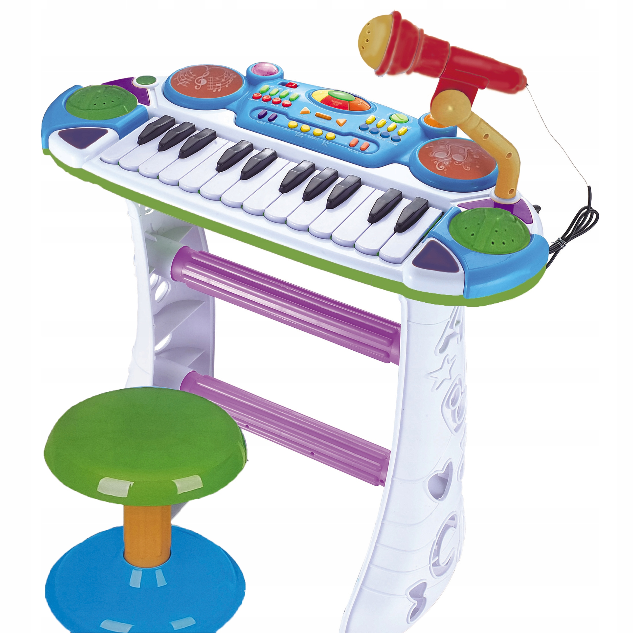 Item KEYBOARD FOR KIDS BODIES A MICROPHONE, A PIANO, A STOOL