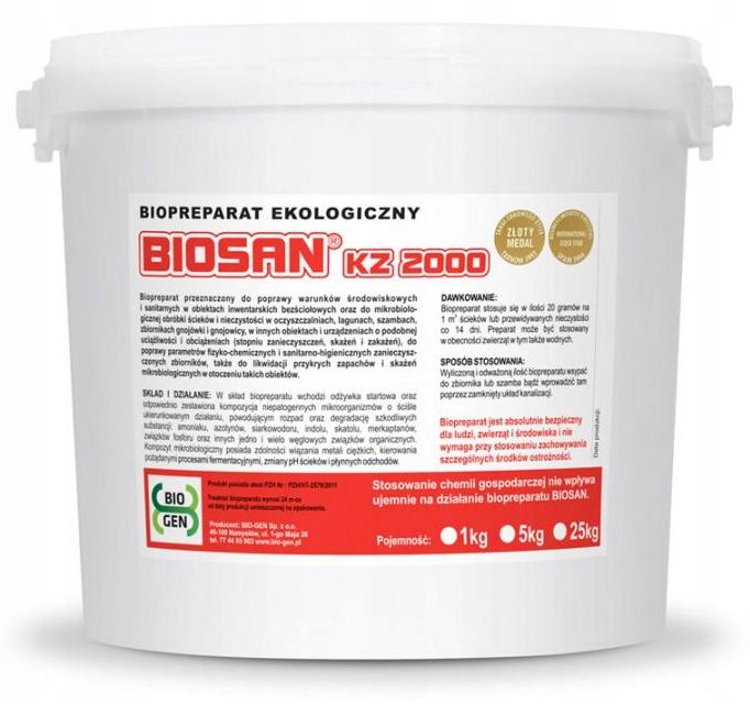 BIOSAN KZ 2000 5 KG fekálneho liečenie BAKTÉRIÍ