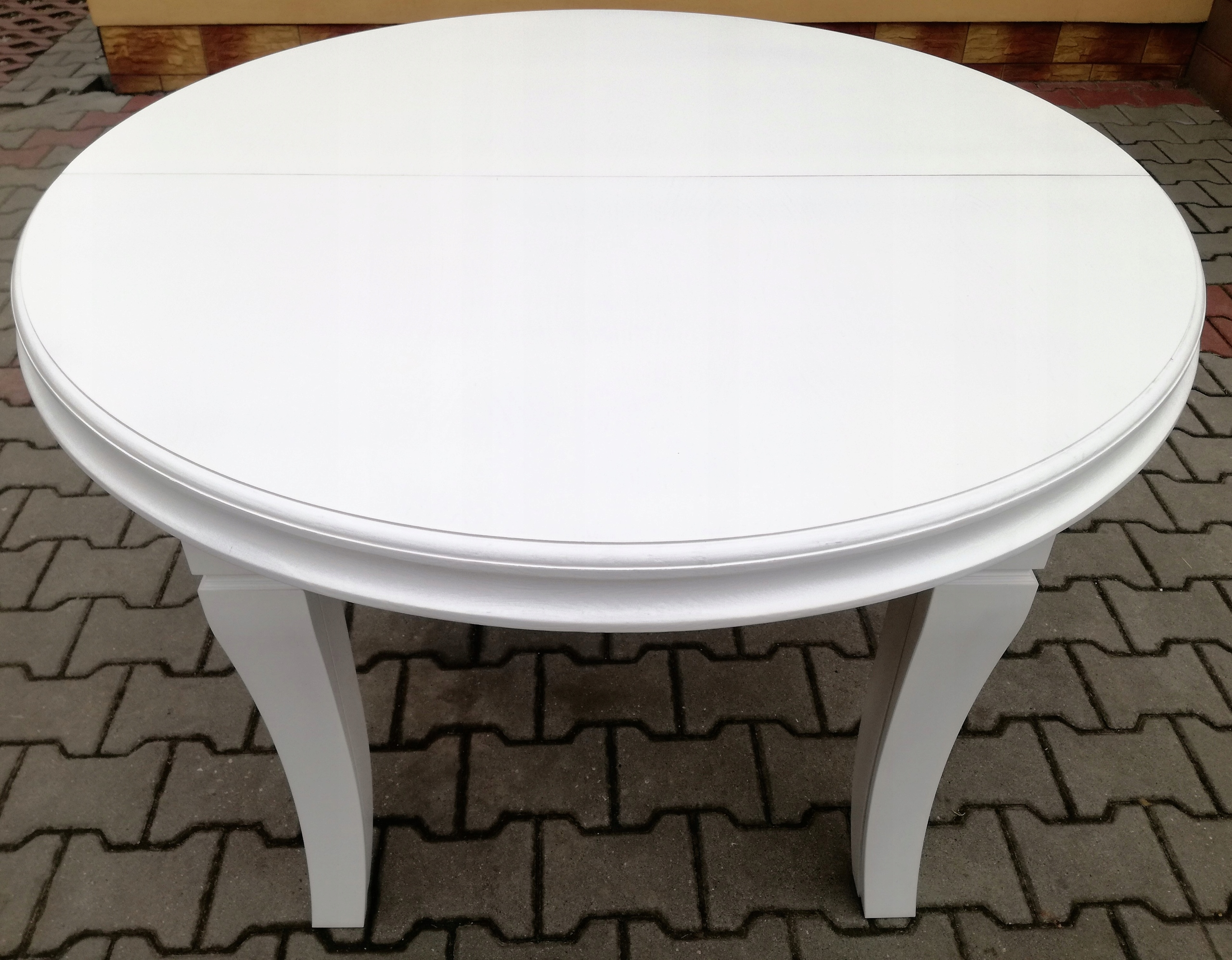 Rozkladací stôl, biely, 150 cm x 450 cm, 8 nožičiek