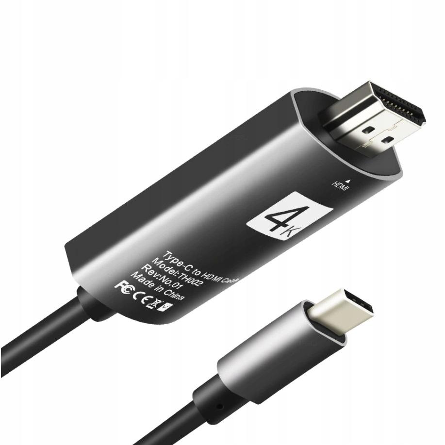 Купить КАБЕЛЬ-АДАПТЕР USB-C 3.1 ТИП C К HDMI 4K, MHL 200см на Otpravka - цены и фото - доставка из Польши и стран Европы в Украину.