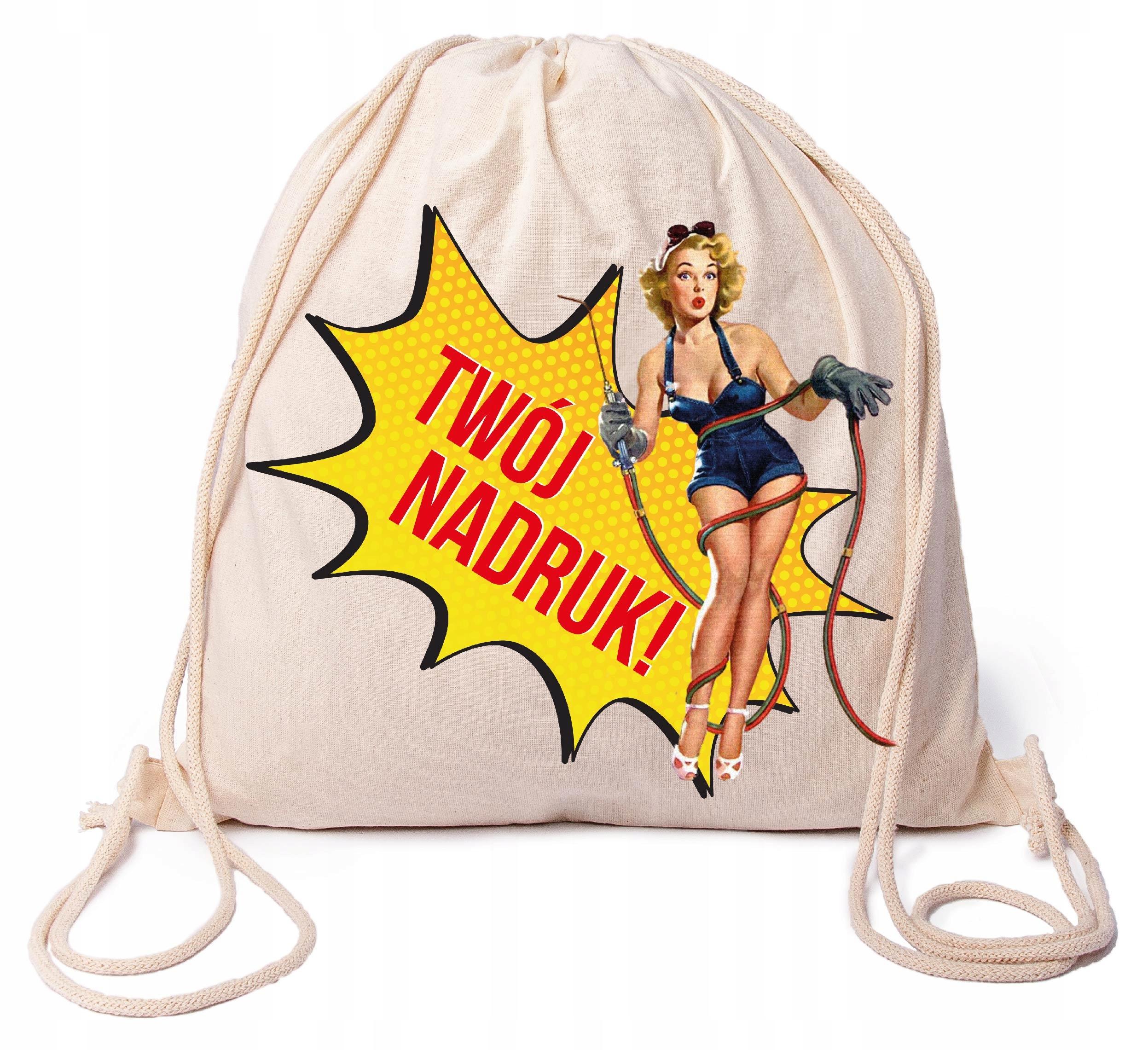 Worek plecak bawełniany z Twoim nadrukiem, logo