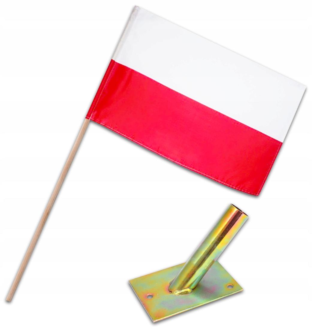 Купить КОМПЛЕКТ НАЦИОНАЛЬНЫЙ ФЛАГ держатель ПАЛКА ПОЛЬША ХИТ на Otpravka - цены и фото - доставка из Польши и стран Европы в Украину.