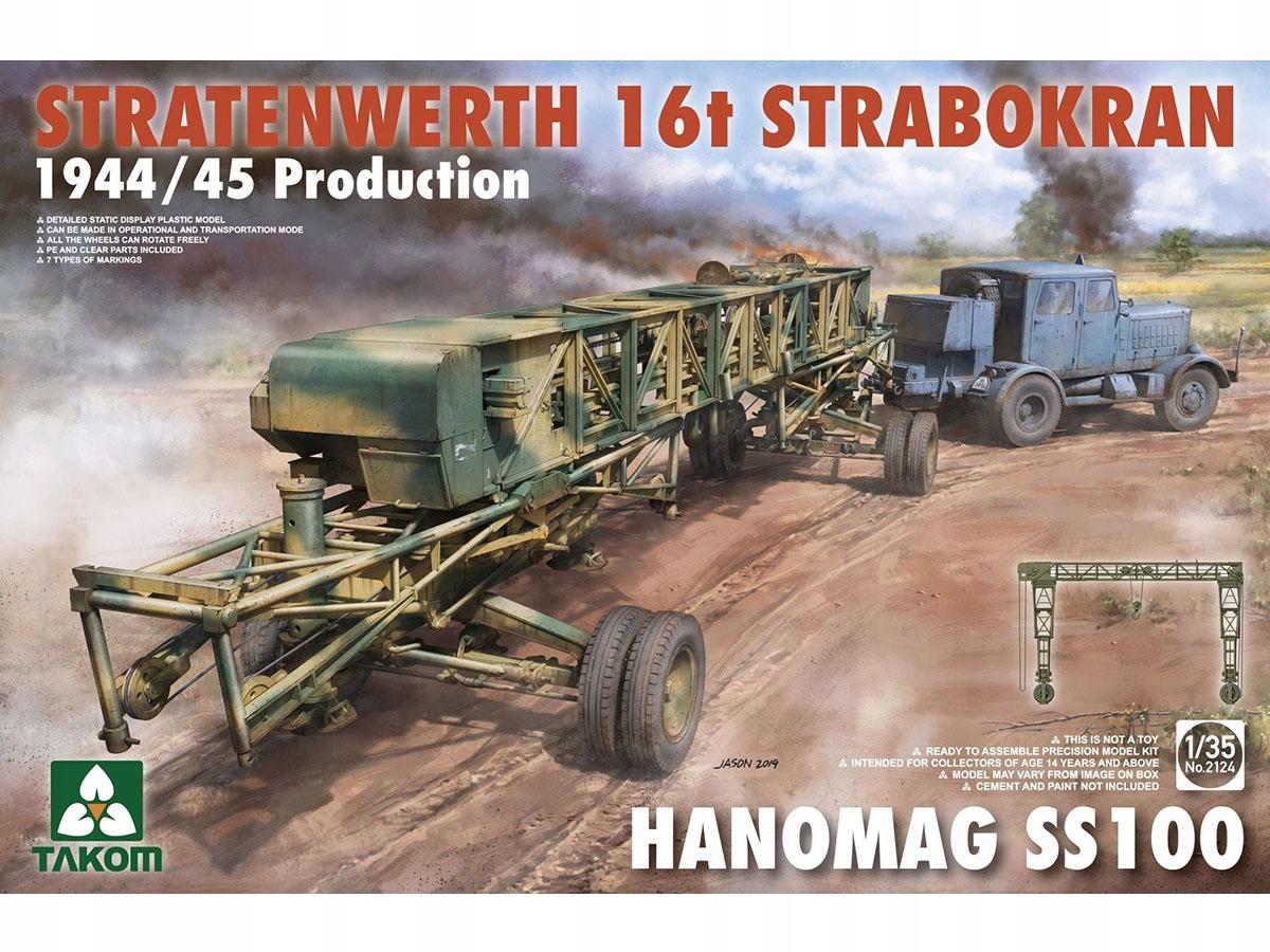 Suwnica Strabokran 16t Hanomag SS100 2124 Takom