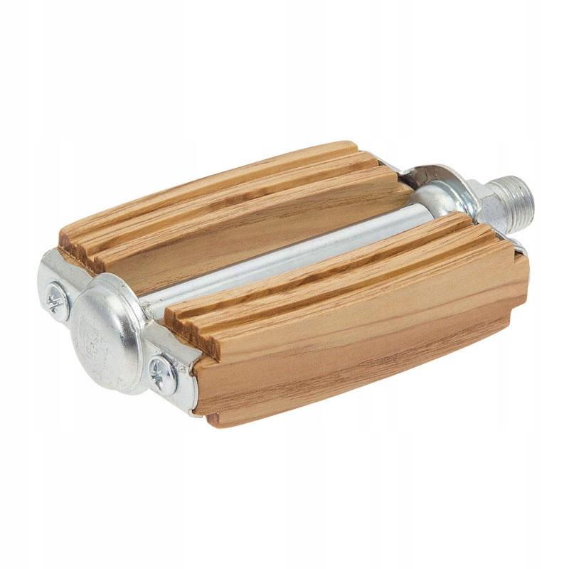 Pedál retro kolarzówka dreva 9/16 olivový olej