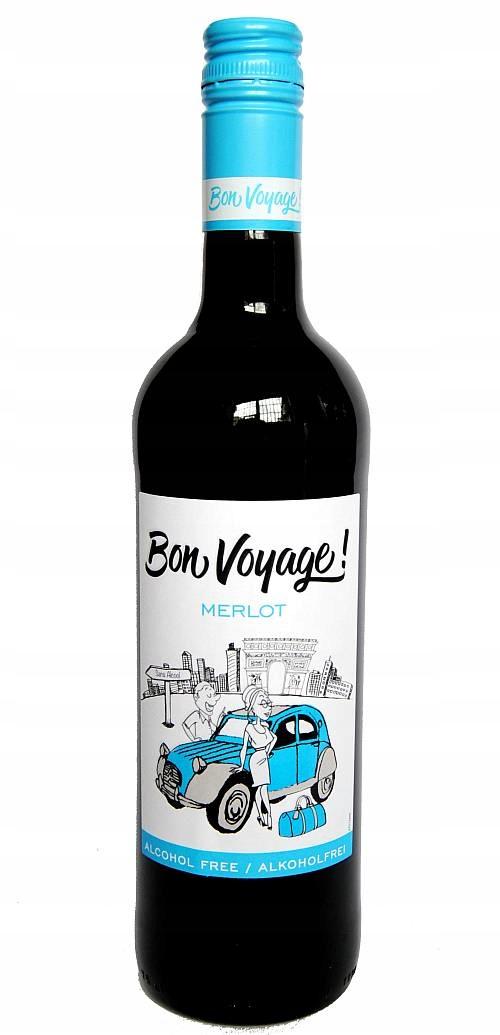 Вино безалкогольное Bon Voyage Merlot 750мл