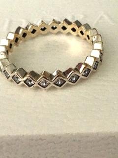 PANDORA prsteň zásnubný prsteň 56