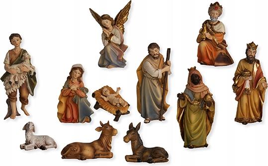 Śliczne Figurki do Szopki 11-części 9cm kolorowe