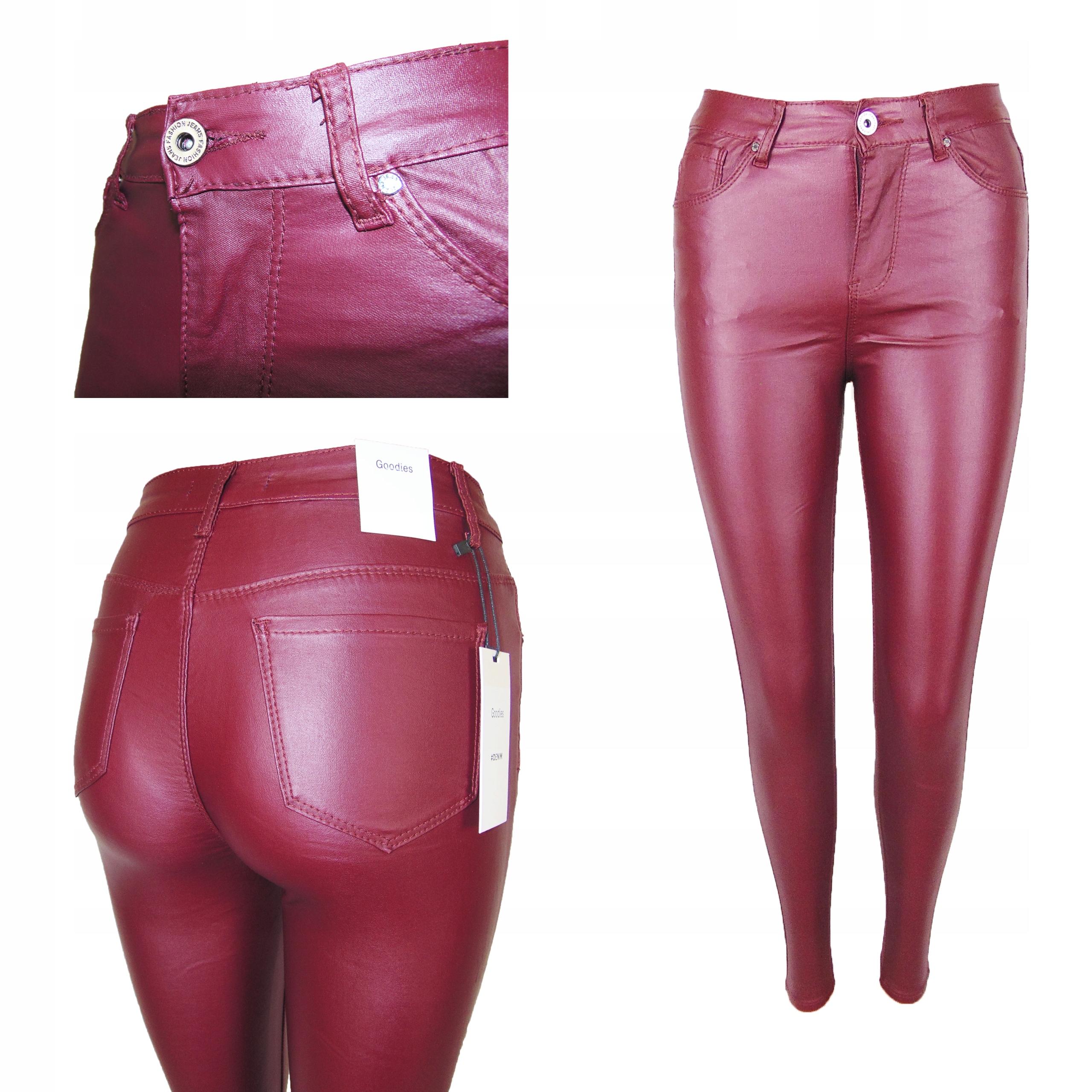 Spodnie Woskowane Goodies Bordo Push R46