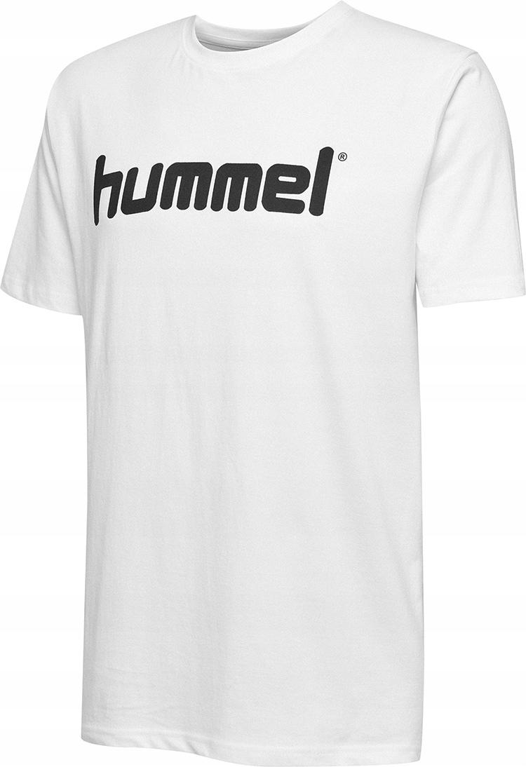 Hummel bavlnené biele tričko XL