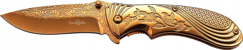 Femme Fatale FR-A008GD skladací nôž vreckový nôž