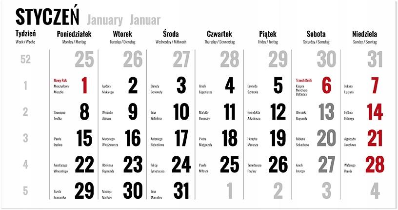 Fotokalendarz jednodzielny с фотографией Бумага ФОТО