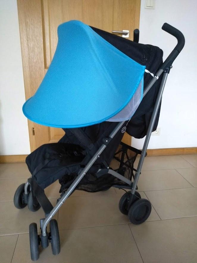 Nový priezor s modrým štítom ako slnečník Maclaren