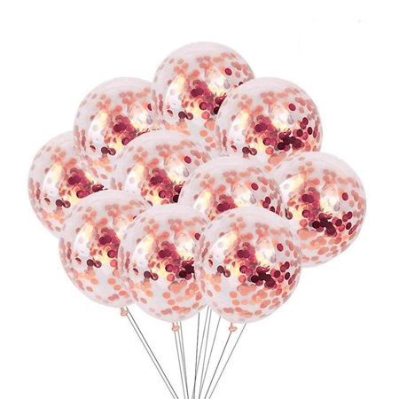 ROSE GOLD CLEAR воздушные шары + конфетти золотисто-розовый __ P16