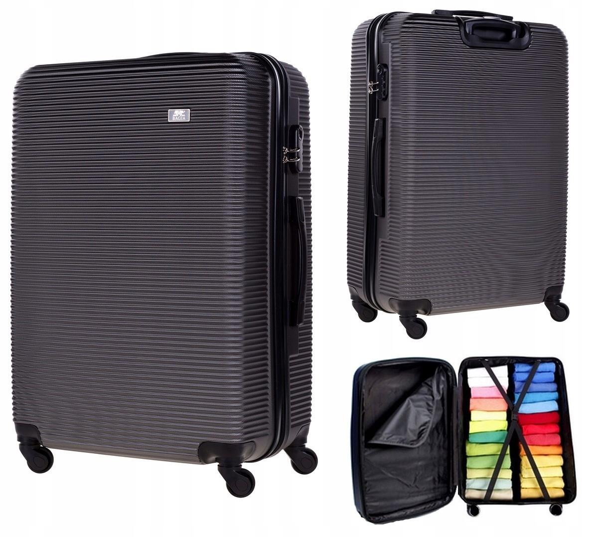 WALIZKA ŚREDNIA PODRÓŻNA KÓŁKA BAGAŻ EXCLUSIVE 808 Zawartość zestawu średnia walizka