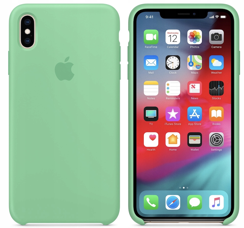Etui silikonowe iPhone Xs / iPhone X (Miętowy)