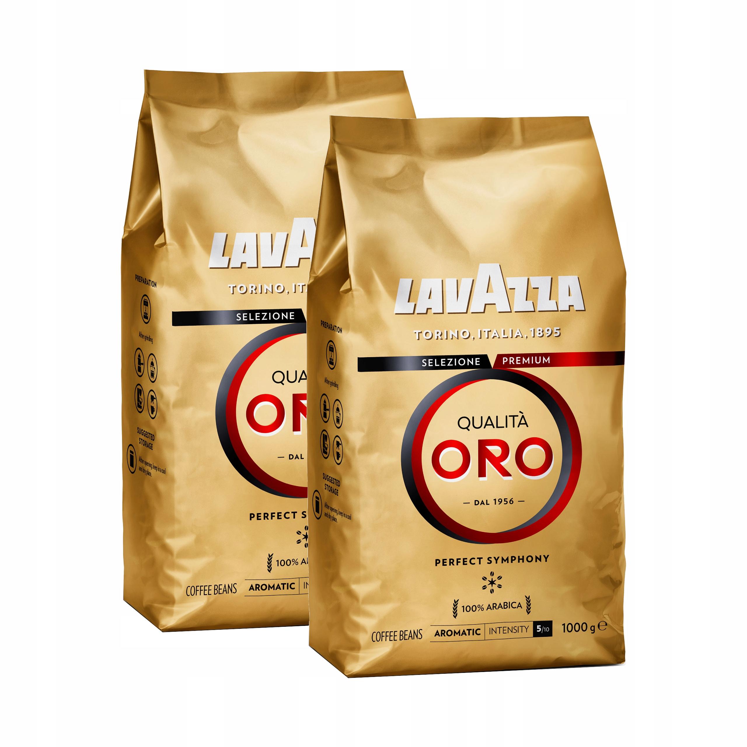 Купить КОФЕ В ЗЕРНАХ ТИПА Lavazza QUALITA ORO 2x1kg на Eurozakup - цены и фото - доставка из Польши и стран Европы в Украину.