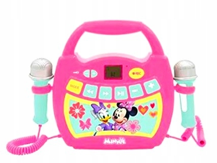 Bluetooth mikrofón Boombox Karaoke 2x Minnie Mouse