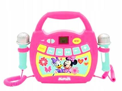 Prehrávač karaoke pre myš Minnie 2x mikrofón AUX