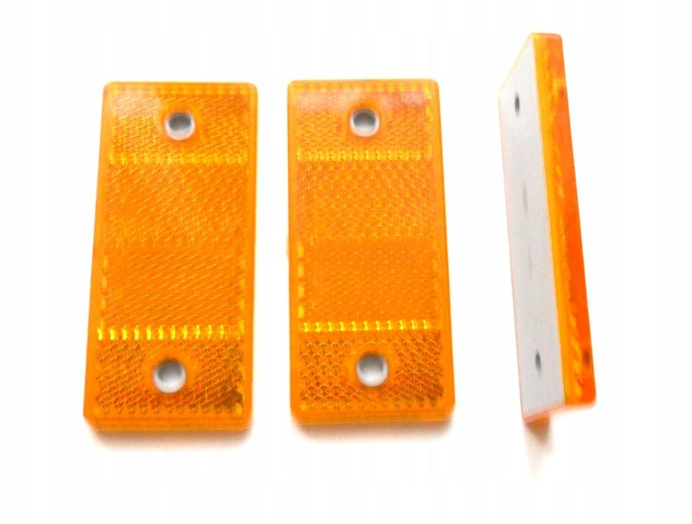 отблеск прямоугольный 69 x 31 5 оранжевый