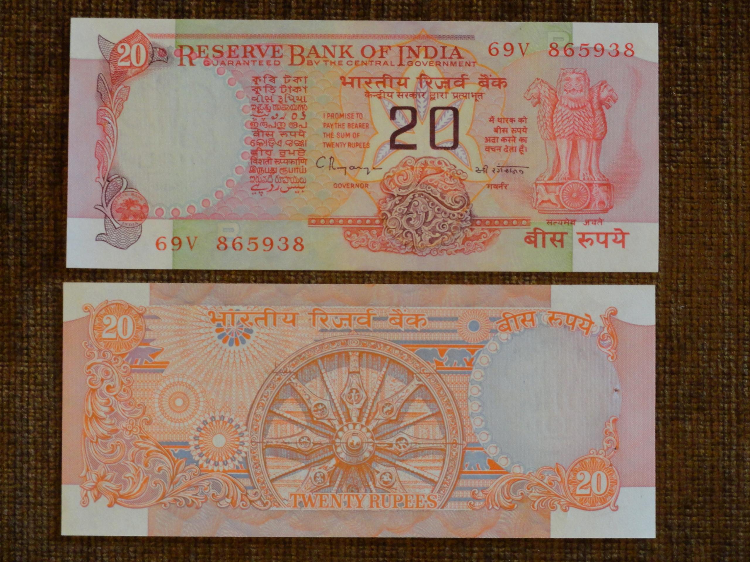 328.INDIE 20 RUPIES UNC-
