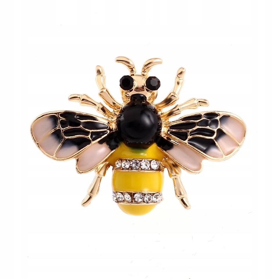 Broszka Owad pszczoła Osa wysoka jakość Cyrkonie