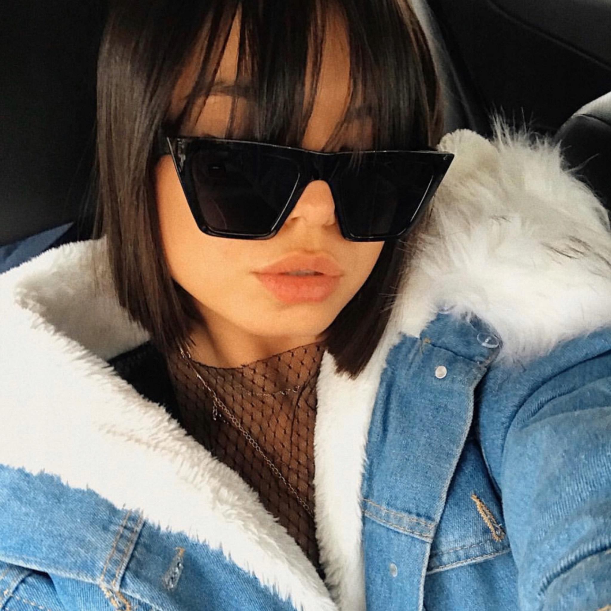 okulary przeciwsłoneczne damskie HAILEY xl czarne