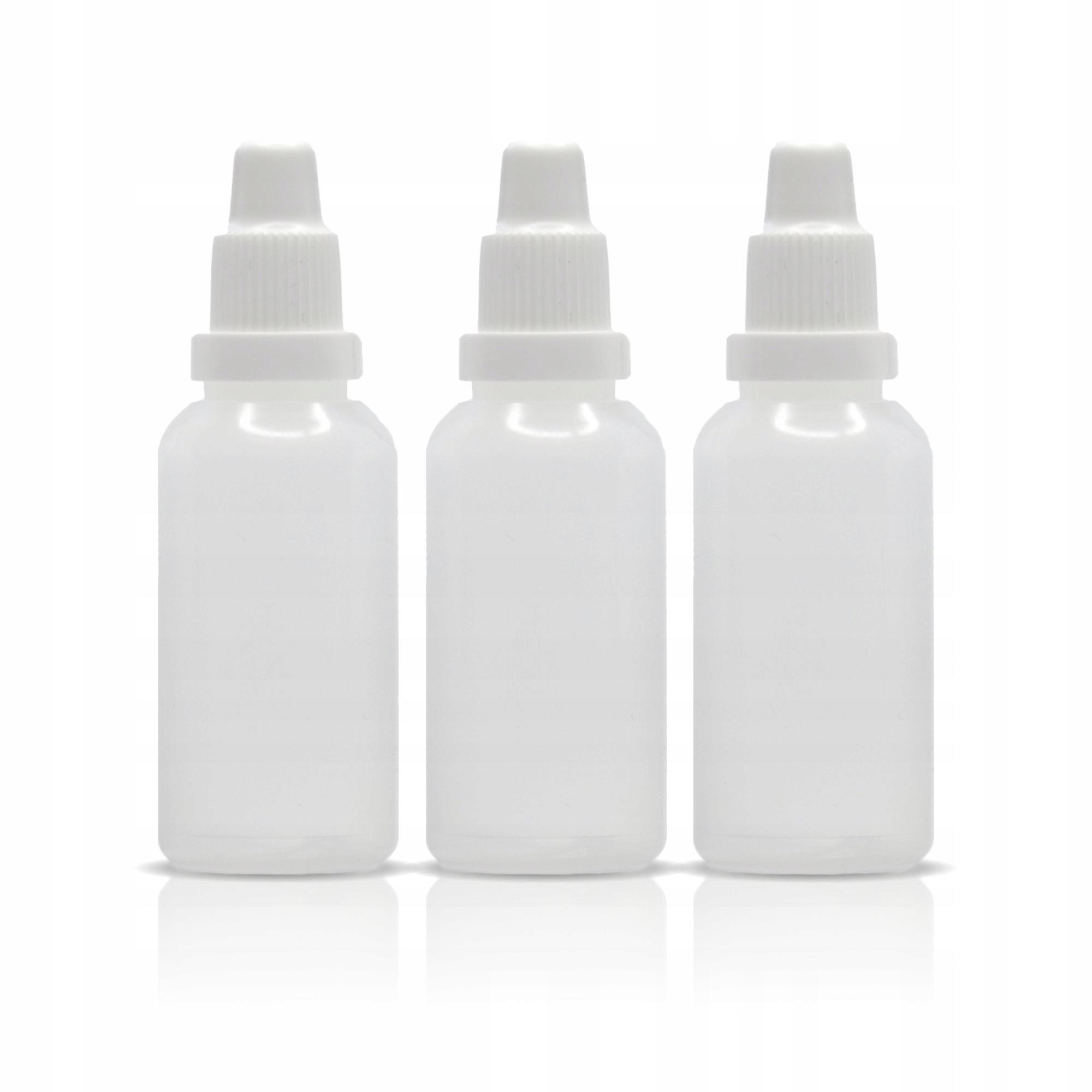 Zestaw 3 x butelka 30 ml i dozownik i nakrętka
