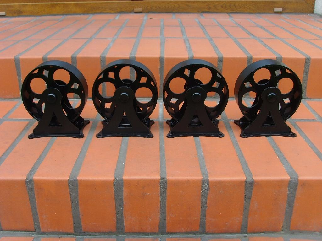 Oceľové nábytkové kolieska LOFT INDUSTRIAL RETRO kovové