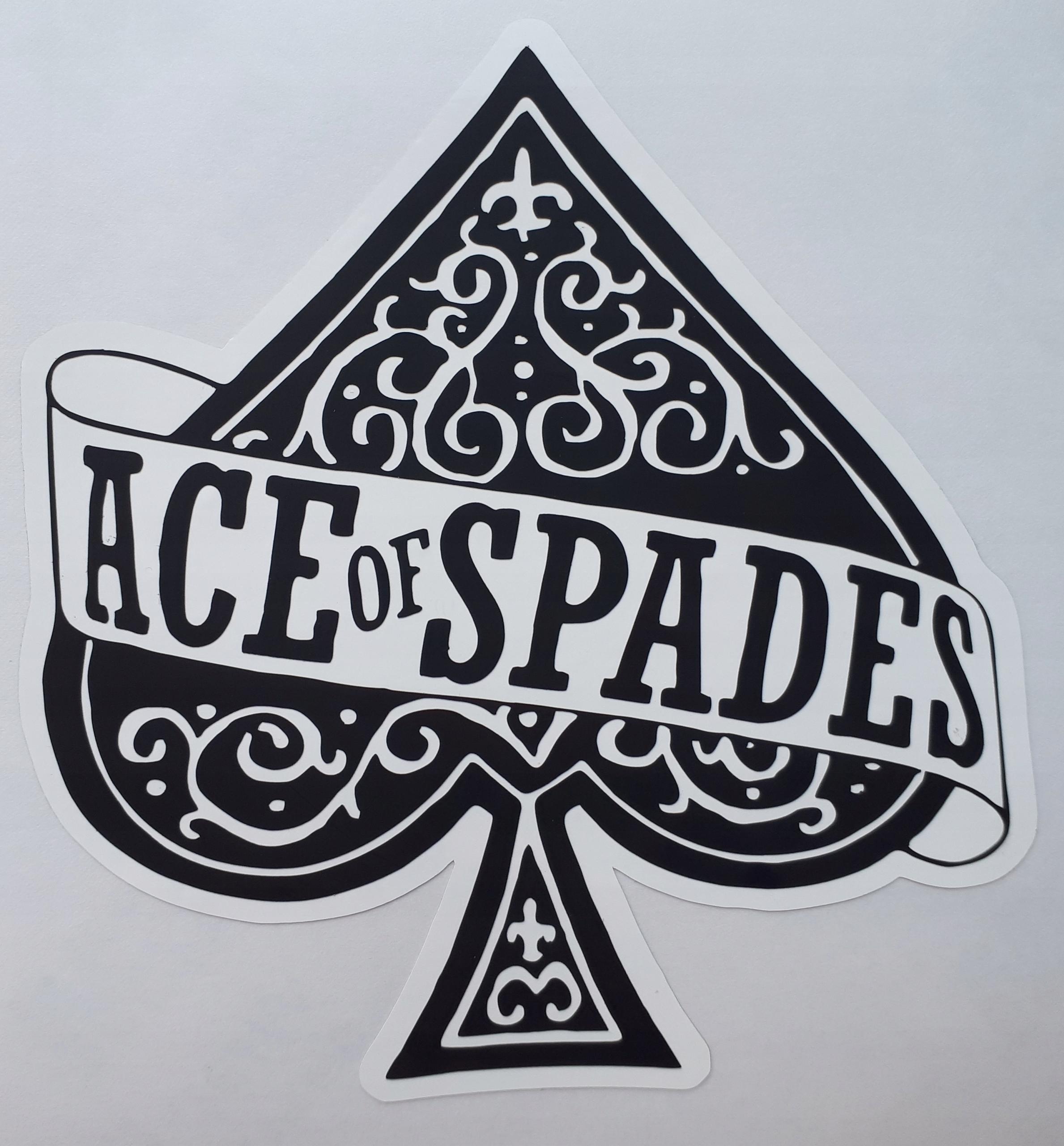 Item Motorhead ACE OF SPADES stickers 12 cm x 11 cm