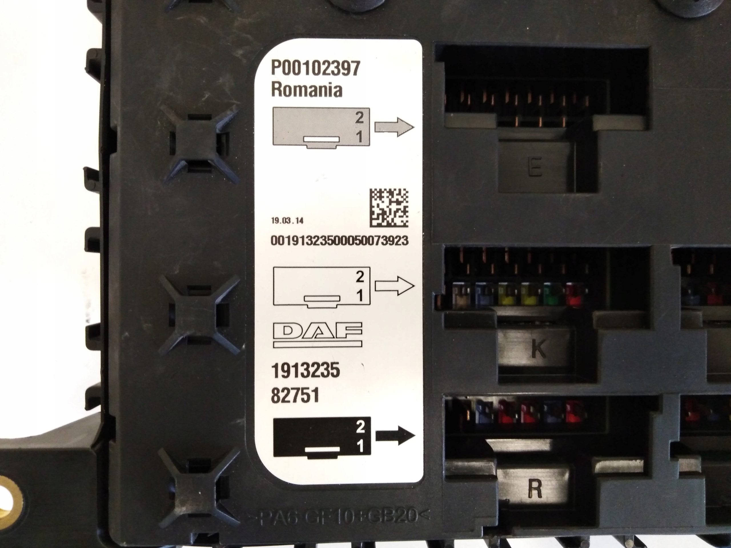 DEZUTE PLOKSTE SAUGIKLIU DAF XF 106 E6