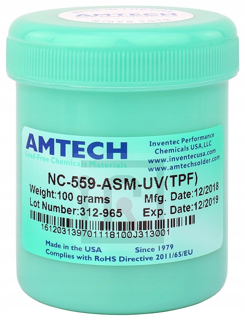 FLUX ФЛЮС BGA SMD AMTECH NC-559-ASM-TPF(УФ) 100г