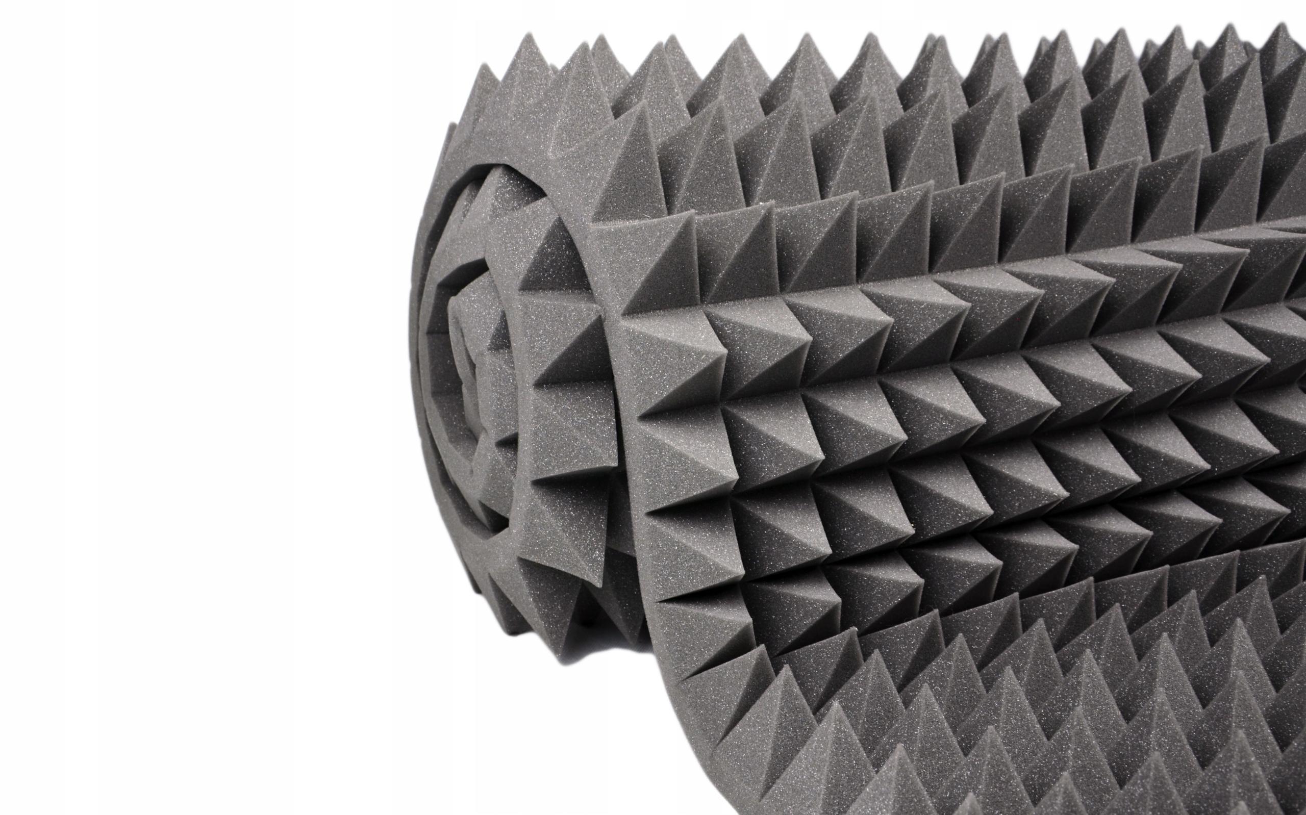 Звукоизолирующий коврик из вспененной пирамиды 8 см