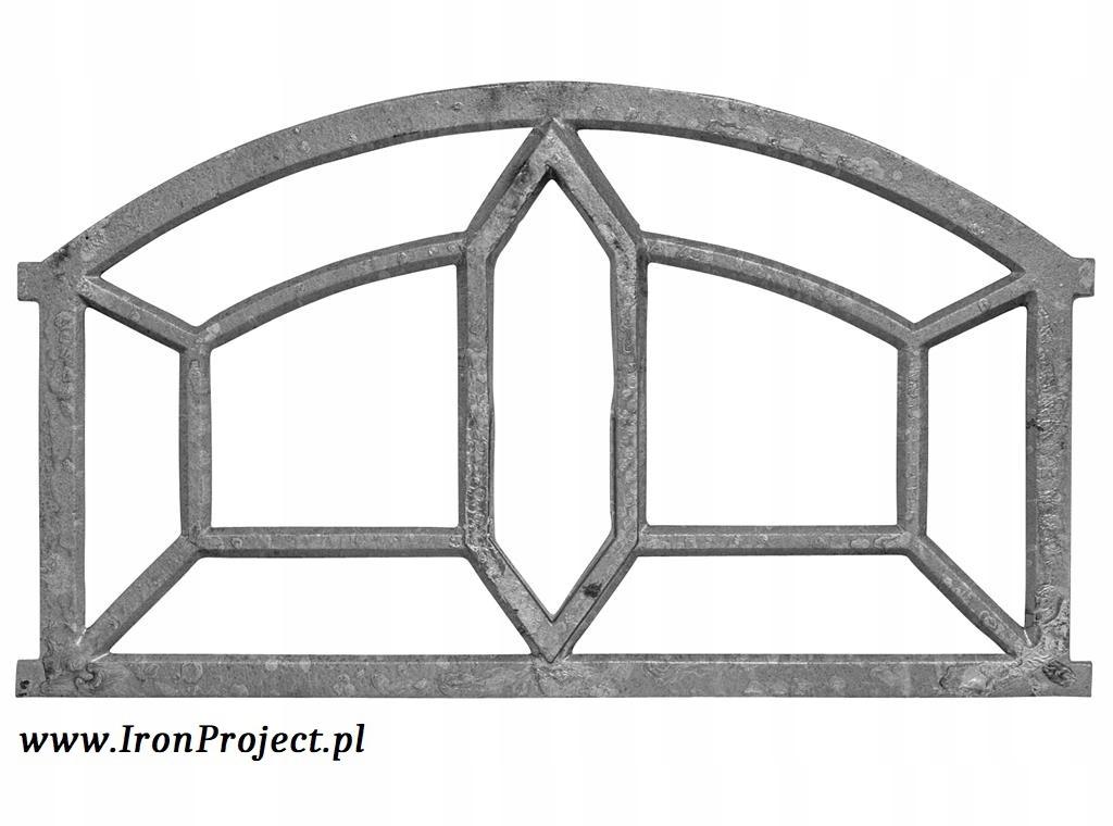 NOVÉ okno liatiny retro veľké polkruhová 98x56cm
