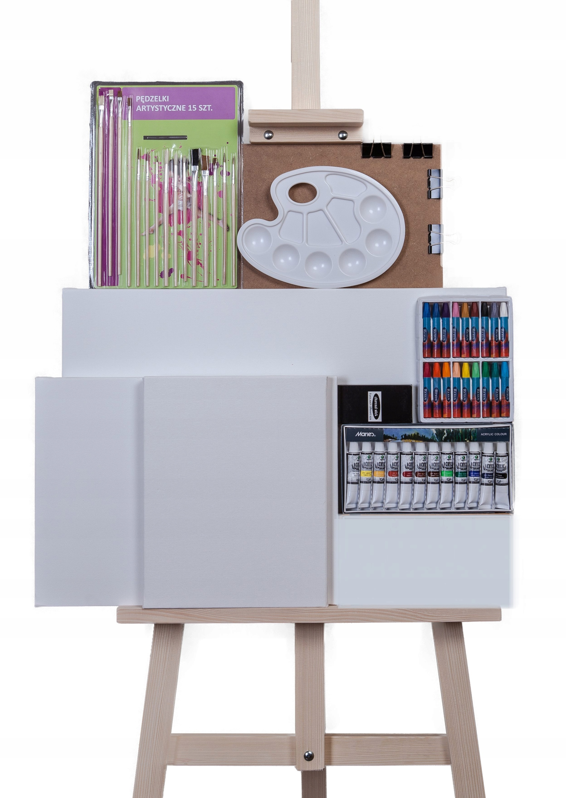 Item A LARGE set of drawing + Easel (paint,pastel...)