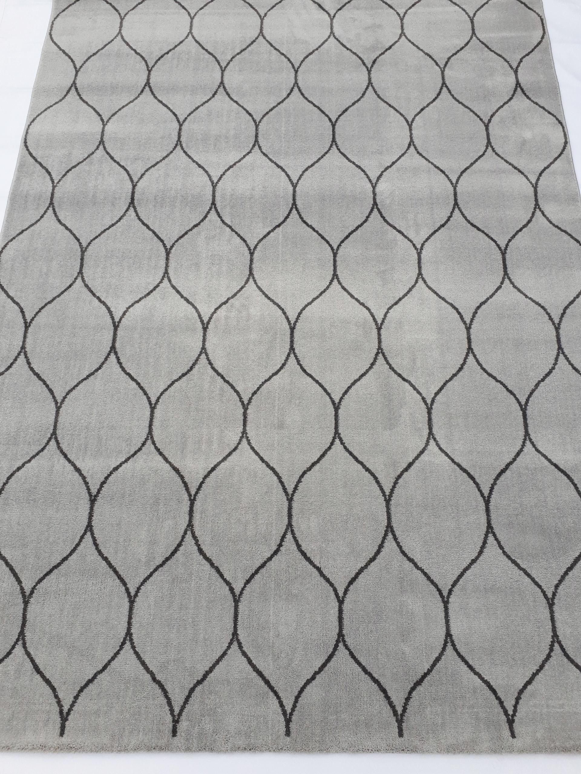 Koberec Koberec 160x230 mäkké ďatelina sivá mikrovlákna