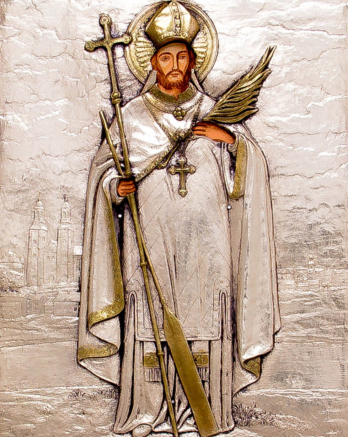 Ikona Świętego Wojciecha - patrona Polski! nr 61 Wysokość 35 cm