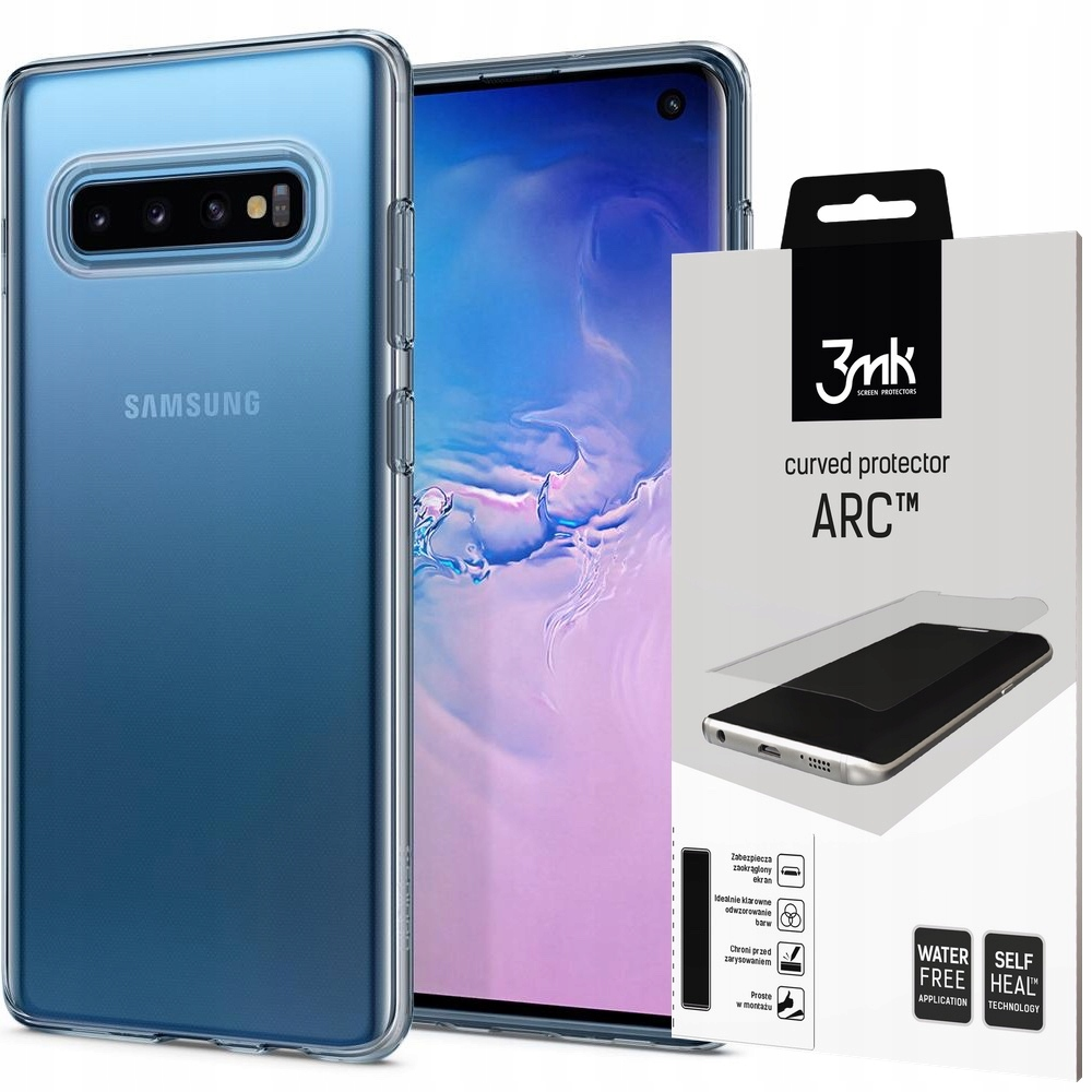 Etui Do Galaxy S10 Spigen Liquid Crystal+folia 3MK