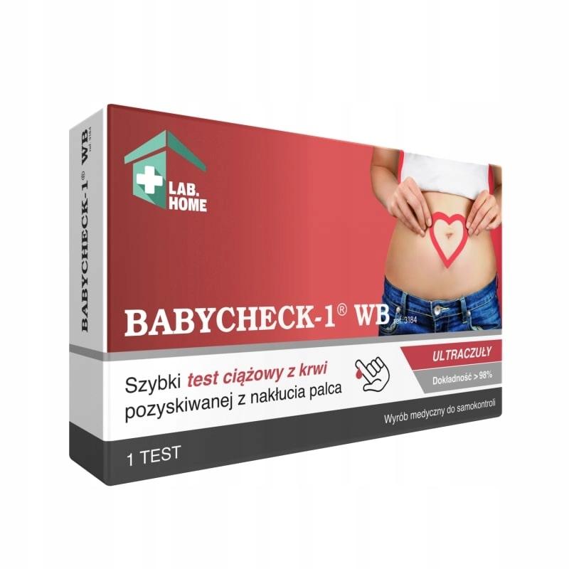 Купить ТЕСТ BABYCHECK ultraczuły тест на беременность ПО КРОВИ на Otpravka - цены и фото - доставка из Польши и стран Европы в Украину.