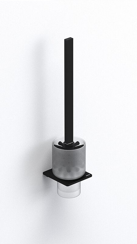 SYSTÉM Kefa WC závesné lampy SONIA S-Cube čierna