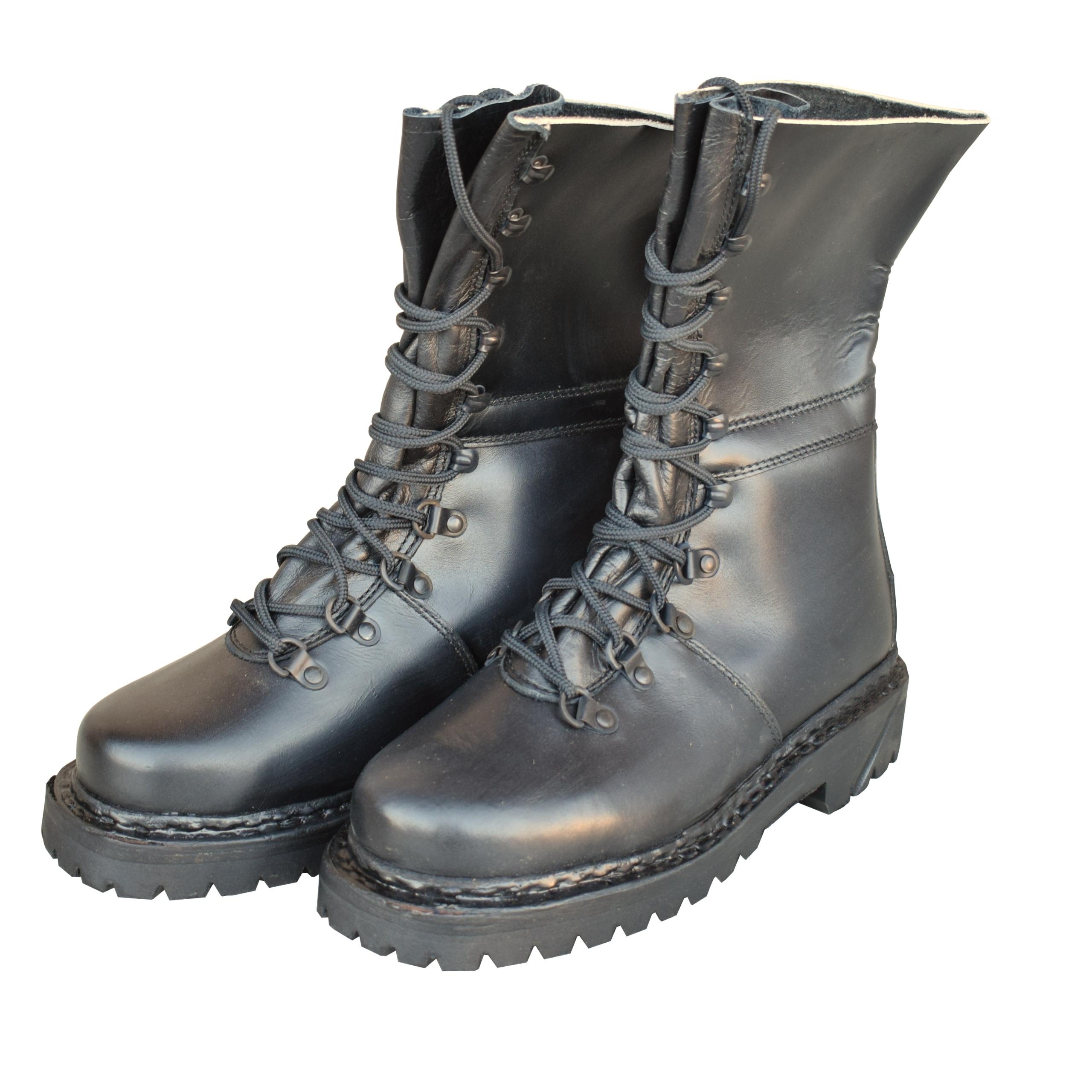 Vojenská obuv Alpská kožená ROZ39 stuhnutá