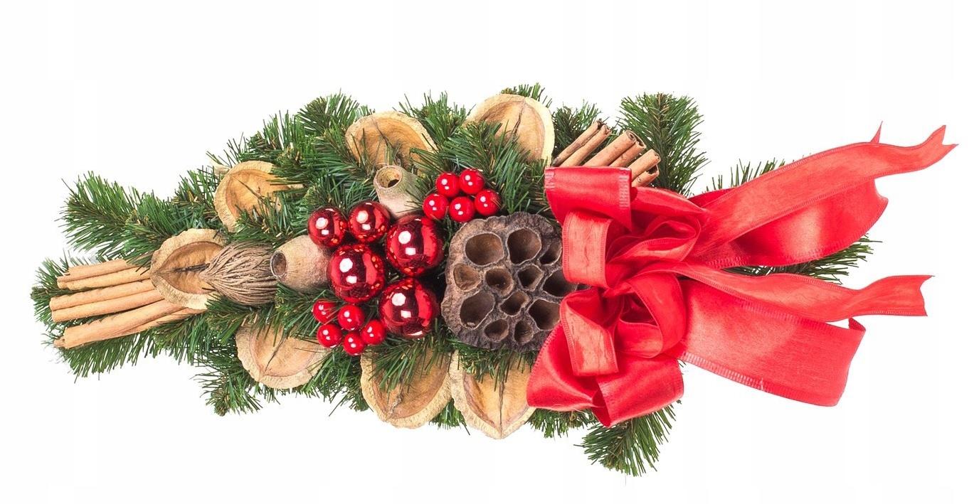 Croissant vianočná dekorácia Červená 40cm